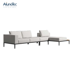 Modern Home Living Room Furniture Patio Metal Sectional Sofa Sets
