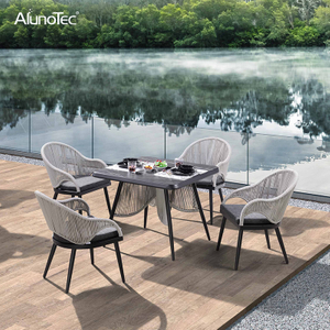 Outdoor Garden Furniture Dining Sets Stylish Rope Chair and Table