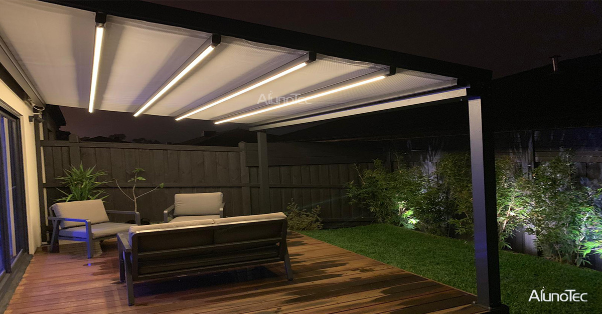 Patio Cover With LED Light