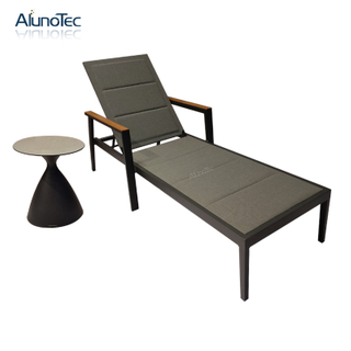 Swimming Pool/Beach/Hotel Aluminum Sun Lounger With Waterproof Fabric