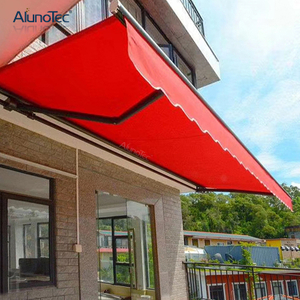 The Horizontal Design Blends Door Window Awning Side Wings for Additional Protection.