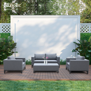 Luxury Outdoor Aluminium Garden Patio Furniture Double and Single Sofa Sets