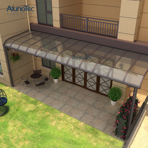 Sun And Rain Awnings Patio Aluminium Canopy For Garden