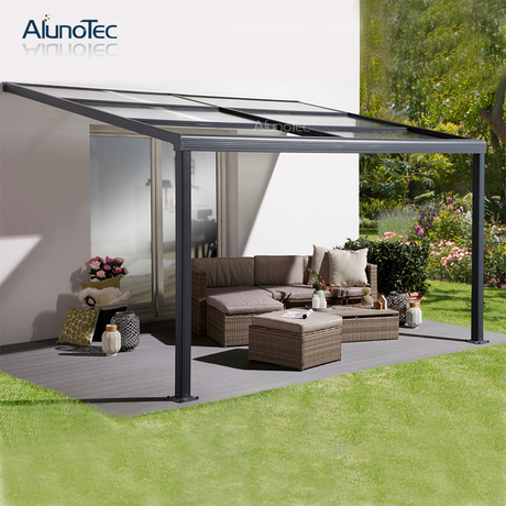 Outdoor Polycarbonate Sliding Patio Cover Gazebo With Retractable Roof Buy Sliding Roof Outdoor Retractable Roof Terrace Covers Product On Aluminum Pergola Alunotec