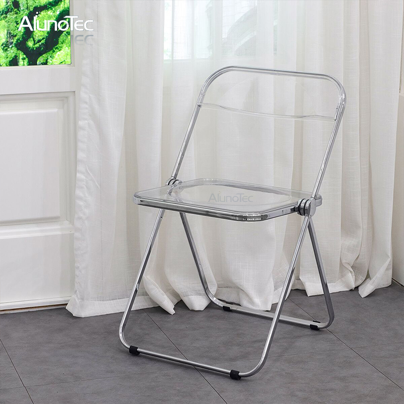 Modern Outdoor Furniture Transparent Plastic Foldable Chairs