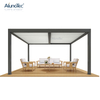 Lighter Wholesale Balcony Pergola Aluminum Outdoor Manual Opening Roof Louver Aluminium Gazebo