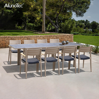 Aluminum Patio Outdoor Lounge Dining Set Garden Furniture
