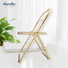 Hot Sale Foldable Outdoor Furniture Transparent Metal Kitchen Chairs