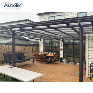 Outdoor Polycarbonate Aluminum Awning Terrace Roof Patio Balcony Straight Canopy