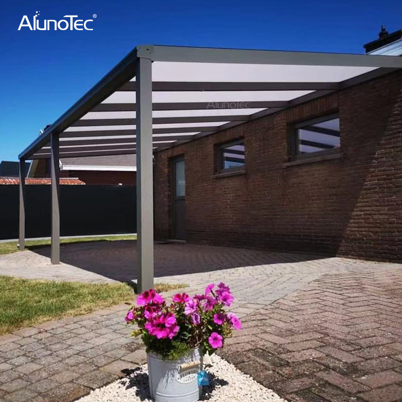 Aluminum Terrace Canopy Free Standing Awnings Louvered Roof Retractable Aluminum Pergola Patio Cover