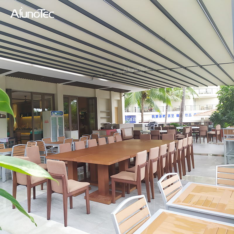 Remote Control Eletric Garden Shading Aluminum Retractable Roof Awning Gazebo For Wholesale