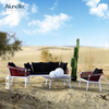 Patio Outdoor Garden Furniture Dining Table Rattan Sofa Set for Sale