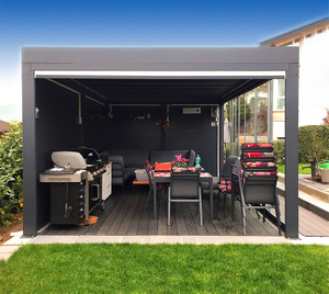 Outdoor Aluminum Pergola Louvered Roof Terrace Roof Bioclimatic Pergola