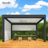Waterproof Outdoor Patio Cover Awning Aluminum Garden Gazebo Louvered Roof Pergola