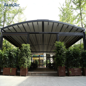 Remote Controlled Pergola Awning Motorized Retractable Roof with Operable Louvers