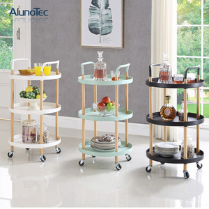 Kitchen Furniture Design Organizer Shelves Trolley Cart with Wheels