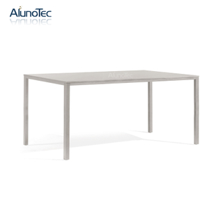 2020 Modern Restaurant Square Metal Furniture Dining Table