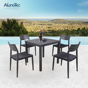5-Pieces Outdoor Patio Table and Chairs Dining Set and Garden Furniture