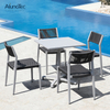 Garden Furniture Aluminum Patio Dining Table And Chair Sets for Restaurant Hotel Designer